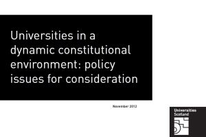 Policy issues for consideration